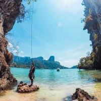 Rock climbing in Railay, Krabi